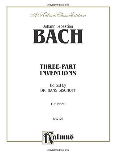 Three-Part Inventions (Kalmus Edition): Johann Sebastian Bach;