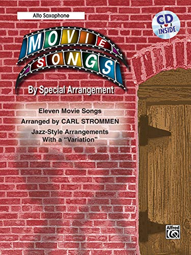 """9780757907821: Movie Songs by Special Arrangement (Jazz-Style Arrangements with a """"Variation""""): Alto Saxophone, Book & CD"""