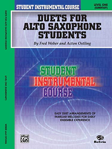 9780757908576: Student Instrumental Course Duets for Alto Saxophone Students: Level I