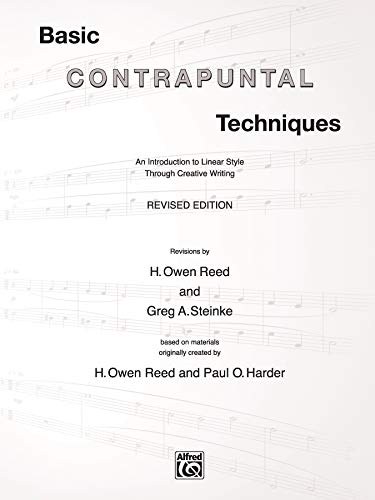9780757916663: Basic Contrapuntal Techniques: An Introduction to Linear Style Through Creative Writing
