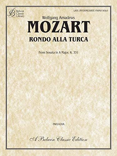 Rondo Alla Turca: from Sonata in A: Mozart, Wolfgang Amadeus