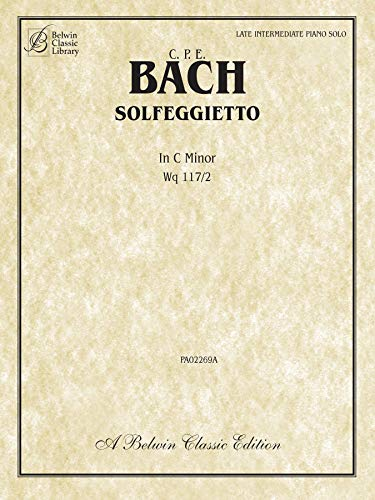 Solfegietto in C Minor, Wq117/2: Sheet
