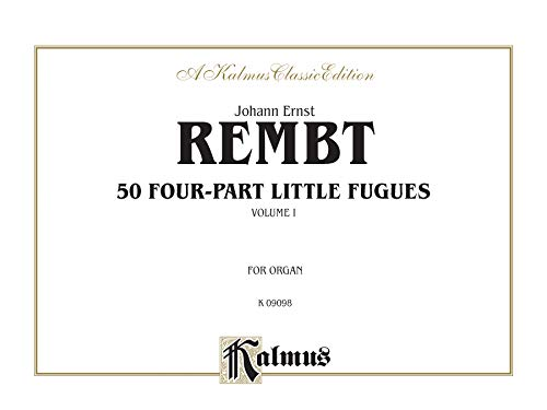 Fifty Four-part Little Fugues, Vol 1: Comb Bound Book (Kalmus Edition): Alfred Music