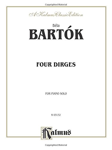 9780757919152: Four Dirges, Op. 8 (Kalmus Edition)