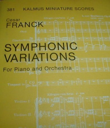 9780757921766: Symphonic Variations for Piano and Orchestra: Miniature Score (Miniature Score) (Kalmus Edition)