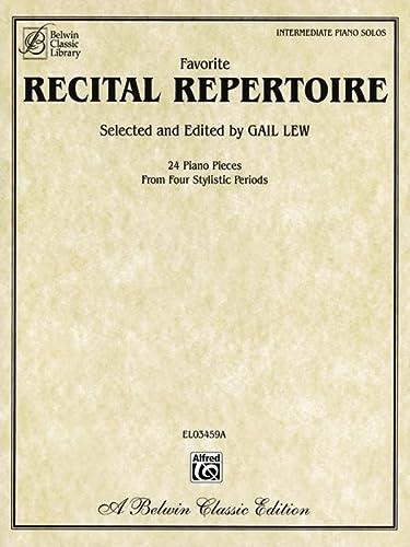 9780757922527: Favorite Recital Repertoire (Belwin Classic Library)