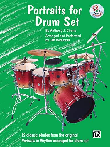 9780757923043: Portraits for Drum Set (Drum Set Etude Book & CD)