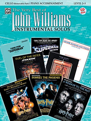 9780757923609: The Very Best of John Williams Instrumental Solos: Cello Removable Part/Piano Accompaniment, Level 2-3