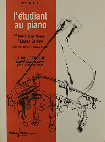 9780757926235: Piano Student, Level 4: French Language Edition (David Carr Glover Piano Library) (French Edition)
