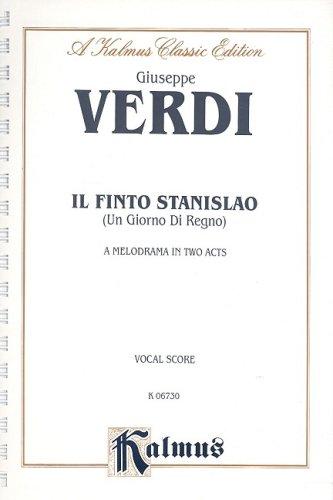 9780757931758: Un Giorno di Regno (Il Finto Stanislao): Vocal Score (Italian Language Edition) (Vocal Score) (Kalmus Edition) (Italian Edition)