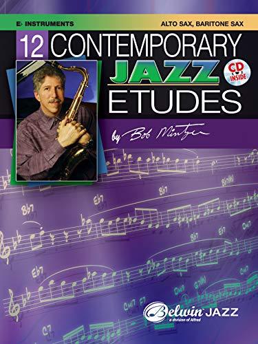 9780757936555: 12 Contemporary Jazz Etudes: Eb Instruments, Alto Sax, Baritone Sax