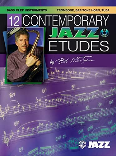 9780757936579: 12 Contemporary Jazz Etudes: Bass Clef Instruments, Book & CD