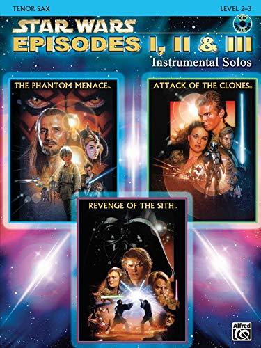 9780757941528: Star Wars Episodes I, II & III Instrumental Solos: Tenor Sax, Book & CD