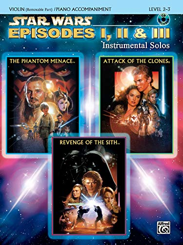 9780757941573: Star Wars Episodes I, II & III Instrumental Solos for Strings: Violin, Book & CD
