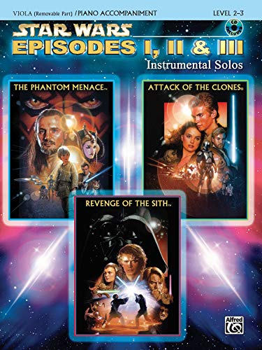 9780757941580: Star Wars Episodes I, II & III Instrumental Solos for Strings: Viola, Book & CD