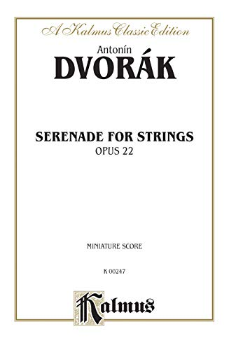 9780757977459: Serenade for Strings, Opus 22: A Kalmus Classic Edition, Miniature Score