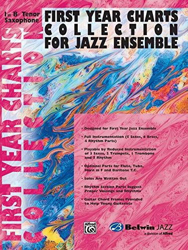 9780757977732: First Year Charts Collection for Jazz Ensemble: 1st B-Flat Tenor Saxophone