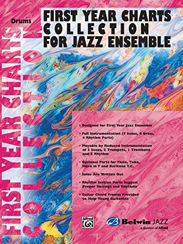 9780757977848: First Year Charts Collection for Jazz Ensemble: Drums