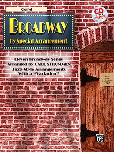 """9780757980718: Broadway by Special Arrangement (Jazz-Style Arrangements with a """"Variation""""): Clarinet, Book & CD"""