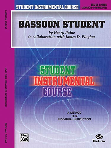 9780757981777: Student Instrumental Course Bassoon Student: Level III