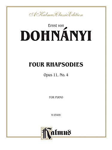 9780757982699: Rhapsody, Op. 11, No. 4 (Kalmus Edition)