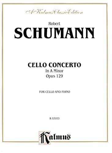 9780757990441: Cello Concerto, Op. 129 (Kalmus Edition)