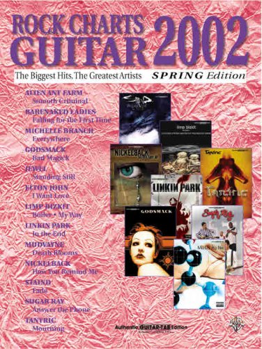 9780757991783: Rock Charts Guitar 2002 Spring Edition: Authentic Guitar TAB