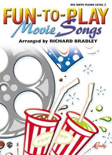 9780757992841: Fun-to-Play Movie Songs (Big Note Piano (Warner Bros.))