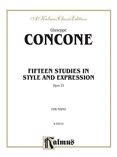 9780757994067: Fifteen Studies in Style and Expression, Op. 25 (Kalmus Edition)