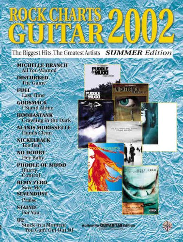 9780757994968: Rock Charts Guitar 2002 Summer Edition: Authentic Guitar TAB