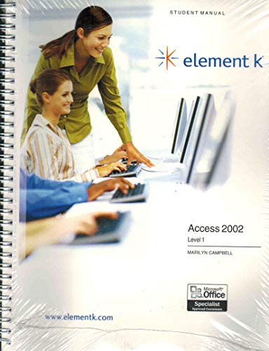 9780758017727: Access 2002, Level 1: Student Manual