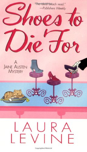 Shoes to Die For 9780758207821 I'm crazy about Laura Levine's mystery series. Her books are so outrageously funny. --Joanne Fluke If clothes make the man, then what do Jaine Austen's elastic-waist pants and T-shirts make her? A fashion nightmare, according to her neighbor, Lance. She doesn't expect Lance--who works in the designer shoe department at Nieman Marcus--to understand. . .which is how she ends up visiting his favorite boutique, Passions. While the couture is definitely not for Jaine, the staff's gossip is. Tiny orange-haired clerk Becky starts complaining about her co-worker Giselle--a.k.a.  Frenchie -- a brittle blonde who, when she's not making fun of customers behind their backs, adds extra-marital notches to her Chanel belt. Though Jaine doesn't land a new look, she does land a new job when Passions' owner gives her a chance to write their new magazine ads. But when Jaine arrives the next morning to pitch her ideas, she finds Frenchie pitched over, stabbed in the neck by one of her own stilettos. Now all Jaine has to do is figure out who hated Frenchie the most, in a case of death by designer knock-off. . .