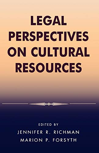 9780759104488: Legal Perspectives on Cultural Resources (Heritage Resource Management Series)