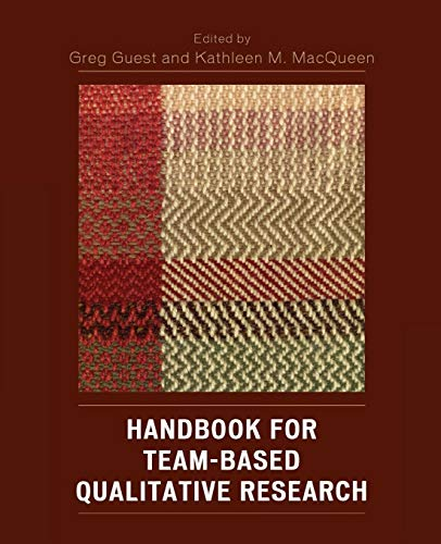 9780759109100: Handbook for Team-Based Qualitative Research