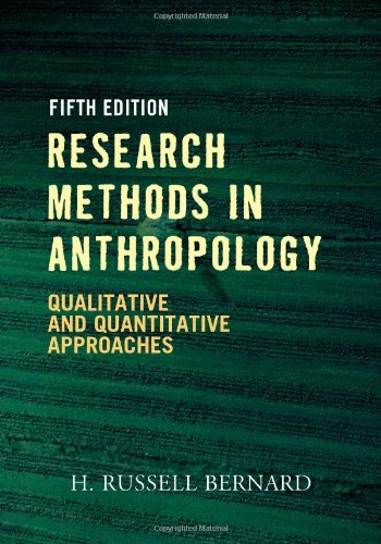 Research Methods in Anthropology: H. Russell Bernard