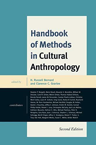 9780759120709: Handbook of Methods in Cultural Anthropology