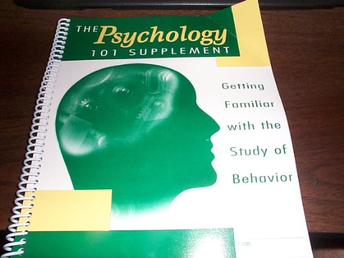 9780759318816: PSYCHOLOGY 1010 SUPPLEMENT Getting Familiar With The Study Of Behavior