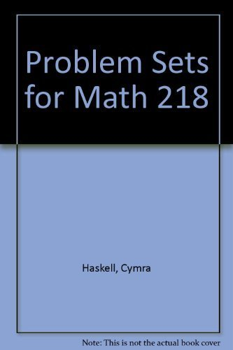 Problem Sets for Math 218: Haskell, Cymra