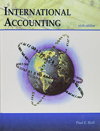 International Accounting 6th Edition: Holt
