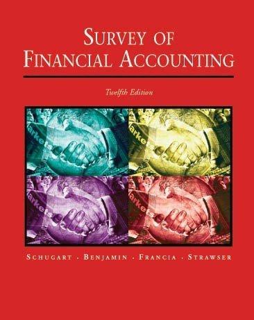 Survey of Financial Accounting: Strawser, Jeffrey W., Francia, Arthur J., Benjamin, James J., ...