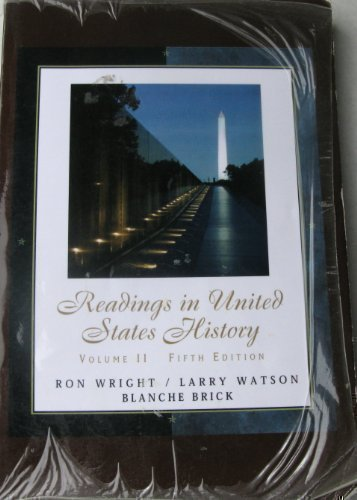 Readings in United States History: Ron Wright; Larry