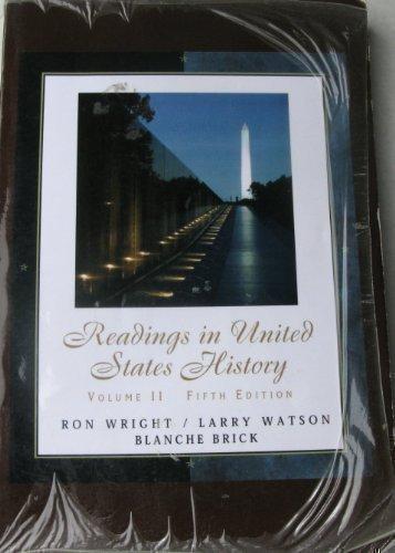 9780759388789: Readings in United States History Volume II Custom (Volume 2)