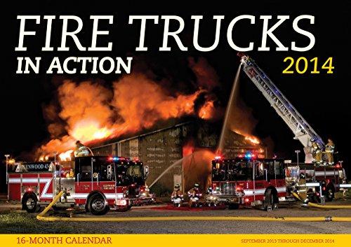 9780760344576: Fire Trucks in Action 2014: 16 Month Calendar - September 2013 through December 2014