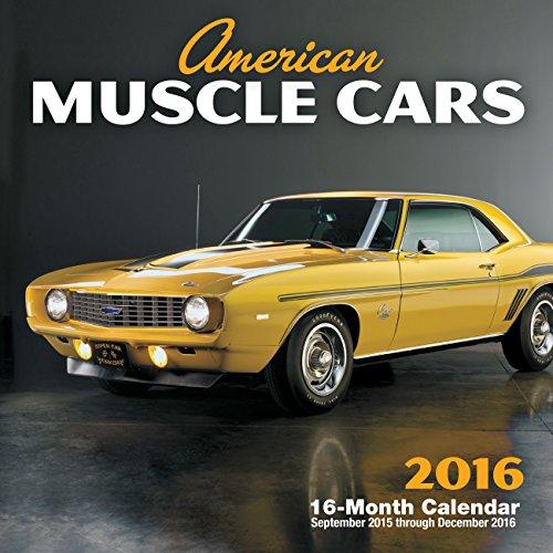 9780760348727: American Muscle Cars 2016 Mini: 16-Month Calendar September 2015 through December 2016