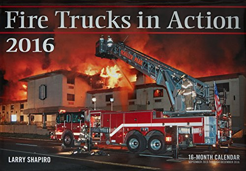 9780760348796: Fire Trucks in Action 2016: 16-Month Calendar September 2015 through December 2016