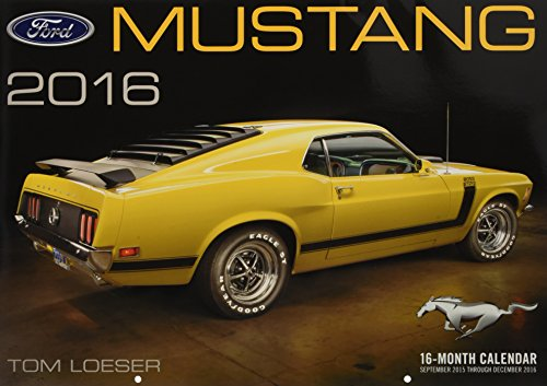9780760348819: Ford Mustang Deluxe 2016: 16-Month Calendar September 2015 through December 2016 - Includes 17x12 ART PRINT 1970 Boss 302