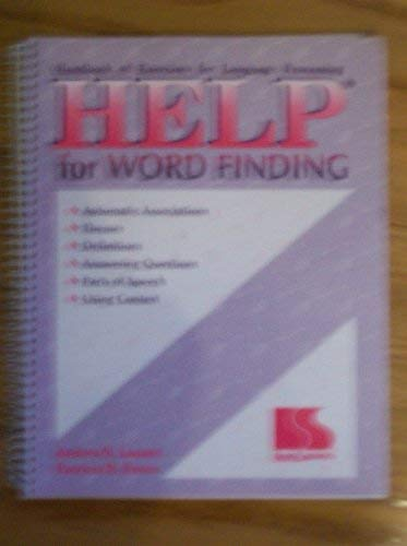 Handbook of Excercises for Language Processing Help for Word Finding: Andrea Lazzari