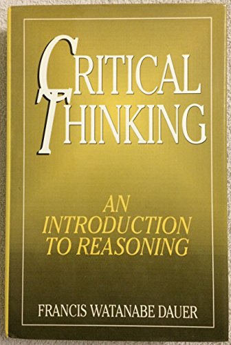 9780760701379: Critical thinking: An introduction to reasoning