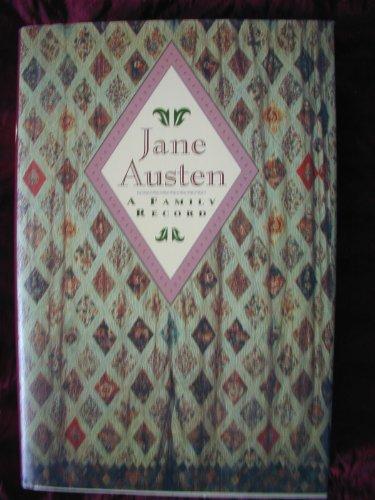 9780760702499: Jane Austen, a family record
