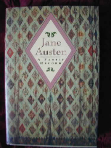 9780760702499: Jane Austen, a family record